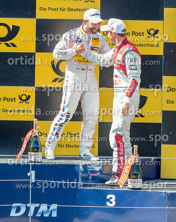 22.05.2016, Red Bull Ring, Spielberg, AUT, DTM Red Bull Ring, Rennen, im Bild 1. Platz Timo Glock (GER, BMW M4 DTM), 2. Platz Mattias Ekstroem (SWE, Audi RS 5 DTM) // during the DTM Championships 2016 at the Red Bull Ring in Spielberg, Austria, 2016/05/22, EXPA Pictures © 2016, PhotoCredit: EXPA/ Dominik Angerer