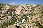 The Holy Lavra of Saint Sabbas known as Mar Saba is a Greek Orthodox monastery overlooking the Kidron Valley at a point halfway between the Old City of Jerusalem and the Dead Sea, within the Bethlehem Governorate of the West Bank.Palestine