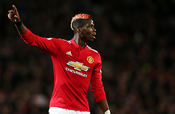Paul Pogba of Manchester United points - Mandatory by-line: Matt McNulty/JMP - 18/11/2017 - FOOTBALL - Old Trafford - Manchester, England - Manchester United v Newcastle United - Premier League