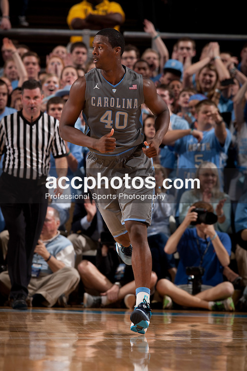 CHAPEL HILL, NC - FEBRUARY 29: Harrison Barnes #40 of the North Carolina Tar Heels runs on the court during a game against the Maryland Terrapins on February 29, 2012 at the Dean E. Smith Center in Chapel Hill, North Carolina. North Carolina won 64-88. (Photo by Peyton Williams/UNC/Getty Images) *** Local Caption *** Harrison Barnes