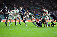 Rugby Union - 2019 (138th Men's) Varsity Match - Oxford University vs. Cambridge University<br /> <br /> Chris bell of Cambridge dives over for the 3rd try, at Twickenham.<br /> <br /> COLORSPORT/ANDREW COWIE