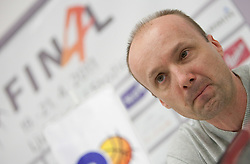 Jure Zdovc, coach of Union Olimpija during press conference of NLB Basketball League one day before NLB Final Four Tournament 2011, on April 18, 2011 in Arena Stozice, Ljubljana, Slovenia.  (Photo By Vid Ponikvar / Sportida.com)