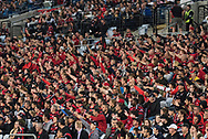 October 08, 2016: Sydney Wanderers crowd at Round 1 of the 2016 Hyundai A-League match, between Western Sydney Wanderers and Sydney FC, played at ANZ Stadium in Sydney. Sydney FC won the game 4-0.