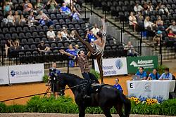 ROBERTS Kristian (USA), SMITH Haley (USA), KIRNAN Audrey (USA), ROSE Emily (USA), LONG Margaret (USA), JANES Daniel (USA), Diva<br /> Tryon - FEI World Equestrian Games™ 2018<br /> Team USA 1<br /> Nations Team Vaulting Championship<br /> 19. September 2018<br /> © www.sportfotos-lafrentz.de/Stefan Lafrentz