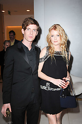 Emily Beecham and Harry Treadaway at a party to celebrate Lancome's 10th anniversary of sponsorship of the BAFTA's in association with Harper's Bazaar magazine held at St.Martin's Lane Hotel, London on 19th February 2010.