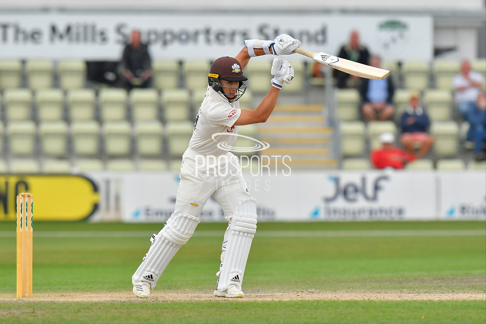 Tom Curran of Surrey batting during the final day of the Specsavers County Champ Div 1 match between Worcestershire County Cricket Club and Surrey County Cricket Club at New Road, Worcester, United Kingdom on 13 September 2018.