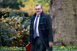 © Licensed to London News Pictures. 05/12/2017. London, UK. Secretary of State for Scotland David Mundell arriving in Downing Street to attend a Cabinet meeting this morning.Yesterday, Brexit negotiations on the Northern Ireland border were stalled when Arlene Foster of the DUP said she could not support commitment to keep Northern Ireland aligned with EU laws. Photo credit : Tom Nicholson/LNP
