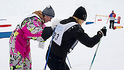 Athetes with intellectual disabilities while sport competition during VIII Polish Winter Games Special Olympics at Wisla on February 26, 2012...Poland, Wisla, February 26, 2012..Picture also available in RAW (NEF) or TIFF format on special request...For editorial use only. Any commercial or promotional use requires permission...Photo by © Adam Nurkiewicz / Mediasport