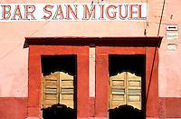 Swinging bar doors, Bar San Miguel, San Miguel de Allende, Mexico