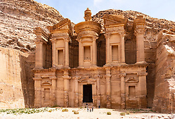 View of Ad-Deir Monastery at Petra in Jordan.UNESCO World Heritage Site