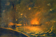 American Civil War 1861-1865: Bombardment of Port Hudson 14 March 1863. Fleet of seven Union vessels attempted to run past Port Hudson to blockade Red River. Five vessels lost but remaining two able to block mouth of river.