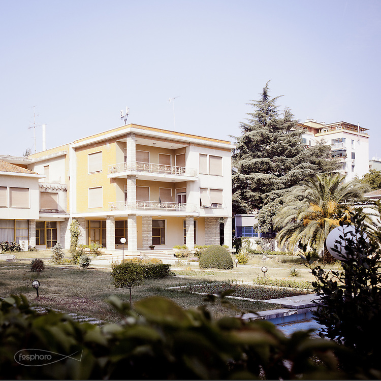 Tirana - Villa former dictator Enver Hoxha, who fell in 1991.