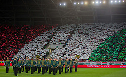 September 3, 2017 - Budapest, Hungary - National anthem before the World Cup qualification match between Hungary and Portugal at Groupama Arena on Nov 03, 2017 in Budapest, Hungary. (Credit Image: © Robert Szaniszlo/NurPhoto via ZUMA Press)
