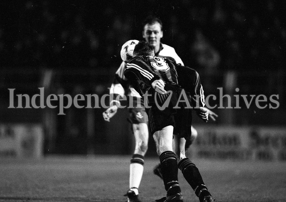 Shamerock Rovers Verses Bohemians at Dailymount Park, Dublin, circa November 1995 (Part of the Independent Newspapers Ireland/NLI Collection).