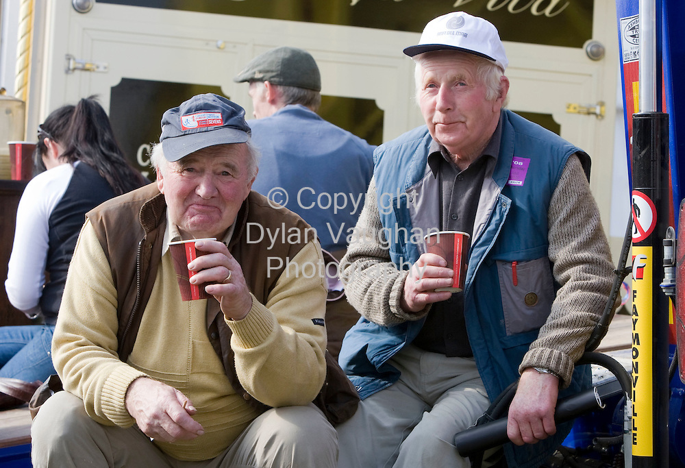 25/9/2008.Stephen O' Leary (left) and Mathew Twomey from West Cork pictured at the National Ploughing Championships in Kilkenny..Picture Dylan Vaughan