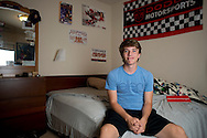 Alex Lee aka #AlexFromTarget poses for a photo in his room on November 10, 2014 in Frisco, Texas. (Cooper Neill for The New York Times)