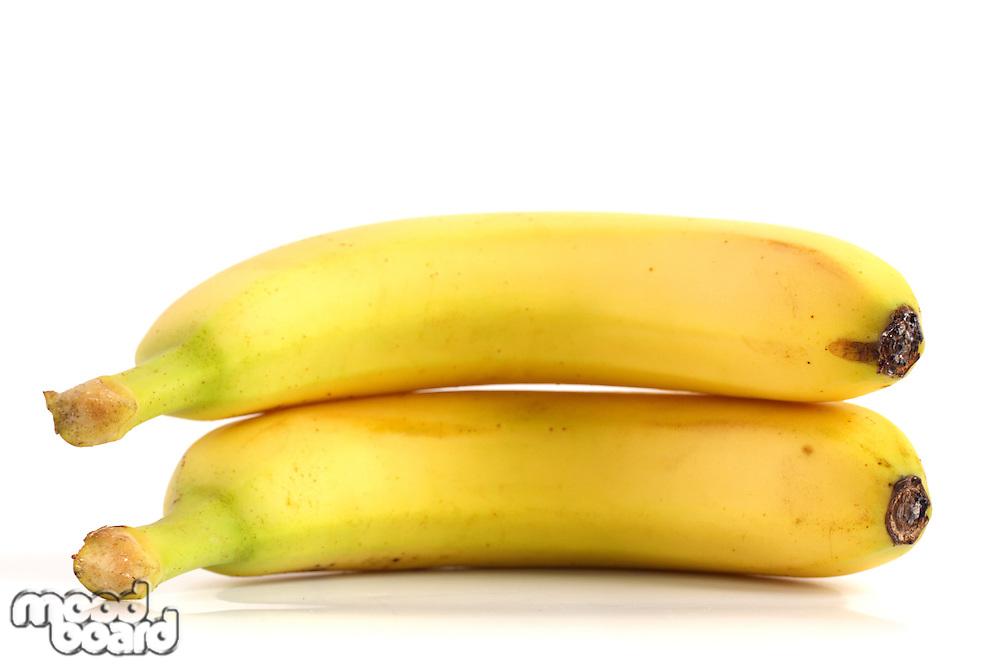 Studio shot of bananas on white background