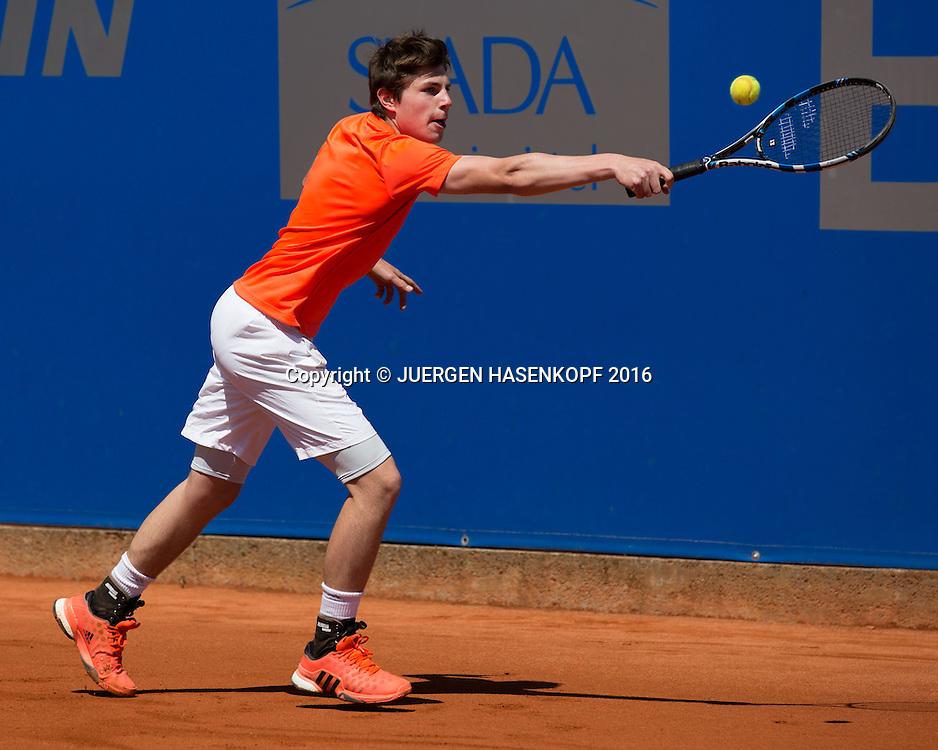 Johannes Fleischmann, Rudi-Berger-Cup, Junioren Turnier<br /> <br /> Tennis - BMW Open2016 -  ATP  -  MTTC Iphitos - Munich -  - Germany  - 30 April 2016.