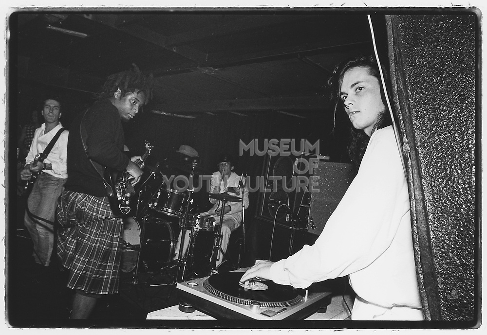John Beales' Wedding, Thekla, Bristol, 1985 (Sean Oliver on bass (Rip, Rig & Panic), Roger pomfrey on guitar, Bruce Smith on drums (Pop Group), Nellee on the cut, MC Willie Wee) (2)