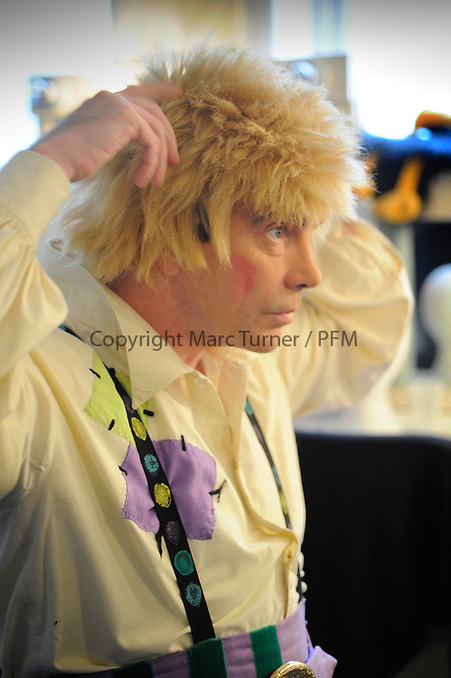 Snow White at The Kings - Photo Essay<br /> Dressing Rooms<br /> <br /> Gavin Mitchell gets prepared to take on the role on Muddles putting on &quot;Ziggy&quot;