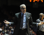"""Ole Miss vs. SMU coach Matt Doherty at the C.M. """"Tad"""" Smith Coliseum in Oxford, Miss. on Tuesday, January 3, 2012. Ole Miss won 50-48."""