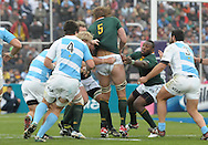 RUGBY CHAMPIONSHIP 2012 - .LOS PUMAS (Argentina) 16 Vs. South Africa (16).Estadio Ciudad de Mendoza / Mendoza - Argentina - August 25, 2012.Here South African Andries Bekker (5) and Tendai Mtawarira.© PikoPress