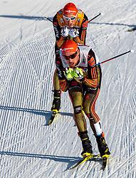 28.01.2017, Casino Arena, Seefeld, AUT, FIS Weltcup Nordische Kombination, Seefeld Triple, Langlauf, im Bild Eric Frenzel (GER), Johannes Rydzek (GER) // Eric Frenzel of Germany, Eric Frenzel of Germany during Cross Country Gundersen Race of the FIS Nordic Combined World Cup Seefeld Triple at the Casino Arena in Seefeld, Austria on 2017/01/28. EXPA Pictures © 2017, PhotoCredit: EXPA/ JFK