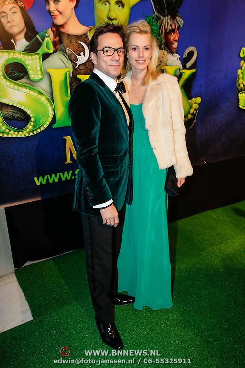 NLD/Amsterdam/20121104 - Premiere Shrek de musical, Spiros en partner