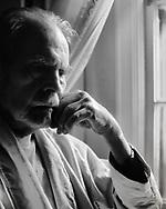 """My neighbor and close friend Jules Thompson was as intuitive as he was entertaining. Few people can throw an insult and cause the victims to laugh instead of get angry, but Jules could do that. In this photograph he was close to his end time and was suffering from Alzheimer's disease.  It's a study of the pensive veil that conusmed a wonderful mind. I titled it """"Birds No Longer Sing"""" like they do in the spring. This was the late autumn of his life. (This image is not for sale.)"""