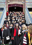 during the University of Wisconsin-Madison commencement ceremony at Camp Randall Stadium, Saturday, May 17, 2014.