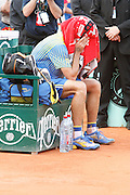 Roland Garros. Paris, France. May 25th 2008..Gustavo KUERTEN cries after his last tennis game as a professional player against Paul-Henri MATHIEU....