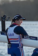 Caversham, Reading, Great Britain, Emily CRAIG, waiting on the pontoon to boat at the  GBRowing Training Session, Water and Gym/Ergo, at the National Training Base, Berkshire, England.<br /> <br /> Wednesday  18/11/2015<br /> <br /> [Mandatory Credit; Peter Spurrier/Intersport-images]
