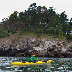 Guide Katy Kayaking in the San Juan Islands, Washington, US