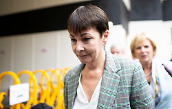 © Licensed to London News Pictures. 30/09/2019. London, UK. Green Party MP CAROLINE LUCAS arrives at Portcullis House ahead of a meeting of opposition parties .  Photo credit: George Cracknell Wright/LNP