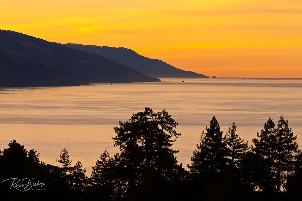 Morning light on the Big Sur coast, California
