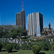 Neptune fountain. Downtown Monterrey. Nuevo Leon, Mexico.