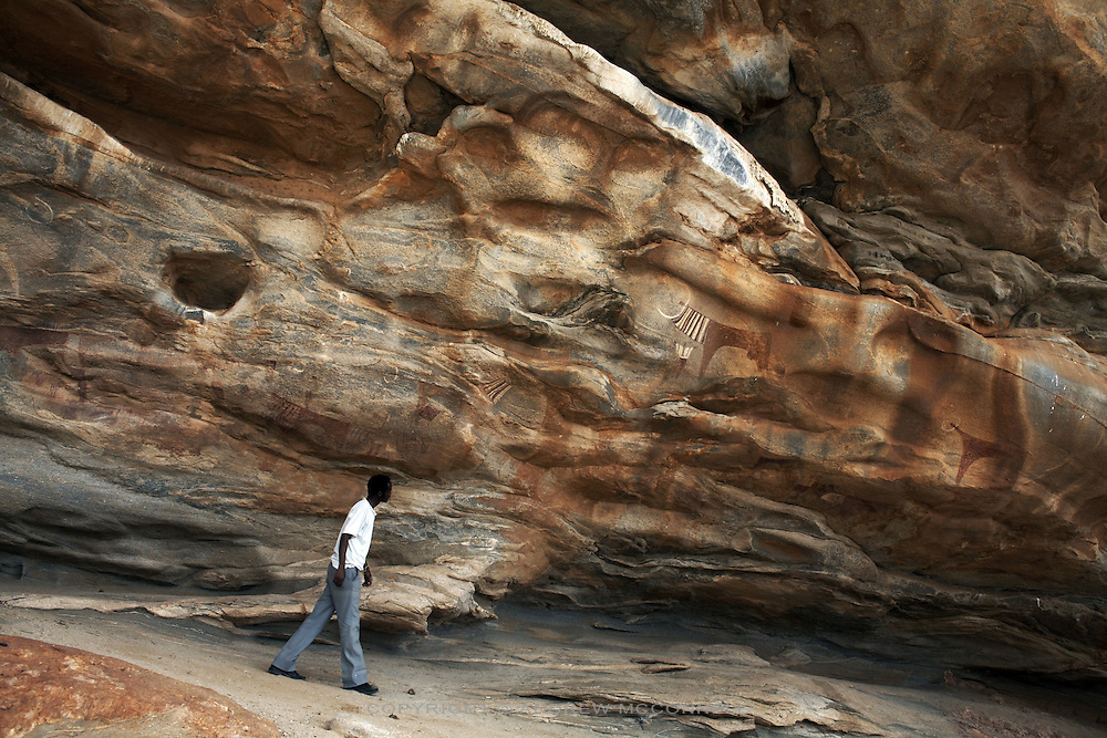 The Lass Geel caves in Somaliland, pictured on Friday, July 27, 2007. The caves contain 5000 year-old paintings and rate as one of the most fasinating attractions in the horn of Africa, however with tourism in the country negligible they remain rarely visited..
