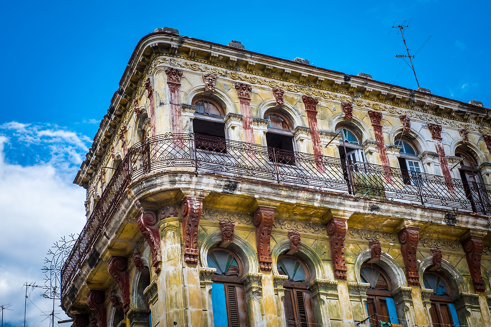 HAVANA, CUBA - CIRCA MAY 2016: Old building in Havana.