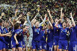 17.07.2011, Commerzbankarena, Frankfurt, GER, FIFA Women Worldcup 2011, Finale,  Japan (JPN) vs. USA (USA), im Bild:  ..Jubel Japan.. // during the FIFA Women Worldcup 2011, final, Japan vs USA on 2011/07/11, FIFA Frauen-WM-Stadion Frankfurt, Frankfurt, Germany.   EXPA Pictures © 2011, PhotoCredit: EXPA/ nph/  Mueller       ****** out of GER / CRO  / BEL ******
