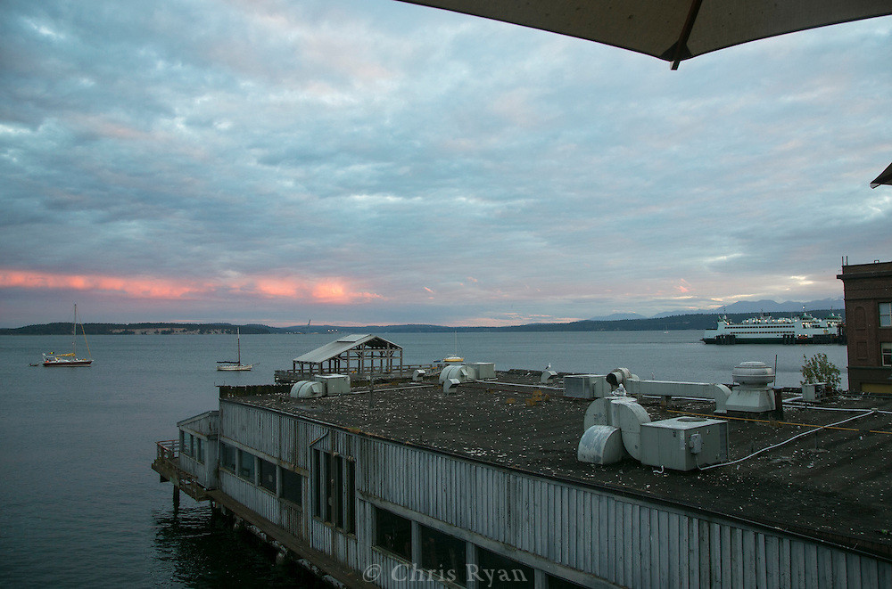 Dusk skyscape, Port Townsend, Washington