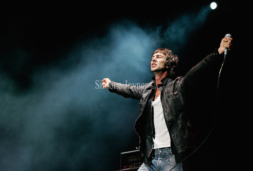 Richard Ashcroft of The Verve performs live on the V stage during Day Two of V Festival 2008 at Hylands Park on August 17, 2008 in Chelmsford, England.  (Photo by Simone Joyner)
