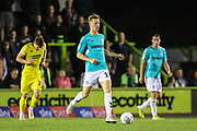 Forest Green Rovers Nathan McGinley(19) runs forward during the EFL Trophy match between Forest Green Rovers and Cheltenham Town at the New Lawn, Forest Green, United Kingdom on 4 September 2018.