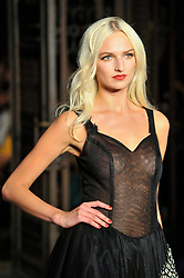 © Licensed to London News Pictures. 16/09/2017. London, UK. A model presents a look from Malan Breton at Fashion Scout in Covent Garden, one of the many venues hosting London Fashion Week SS18.  Photo credit : Stephen Chung/LNP