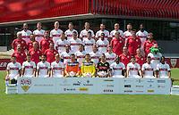 German Soccer Bundesliga 2015/16 - Photocall of VfB Stuttgart on 17 July 2015 in Stuttgart, Germany: <br /> Front row (l-r): Arianit Ferati, Marvin Wanitzek, Lukas Rupp, Mart Ristl, Przemyslaw Tyton, Mitchell Langerak, Odisseas Vlachodimos, Serey Die, Emiliano Insua, Kevin Stöger, Carlos Gruezo. Second row (l-r): coach Alexander Zorniger, asisstant-coach Andre Trulsen, goalkeeping-coach Andreas Menger, Jerome Kiesewetter, Philip Heise, Florian Klein, Timo Werner, Teammanager Guenther Schaefer, equipment-manager Michael Meusch, Maskottchen Fritzle, Third row (l-r): Asisstant-coach Armin Reutershahn, athletic-coach Christos Papadopoulos, sportpsychologist Philipp Laux, Alexandru Maxim, Filip Kostic, Jan Kliment, Daniel Didavi, therapist Gerhard Woern, therapist Manuel Roth, therapist Matthias Hahn. Back row (l-r): Martin Harnik, Daniel Schwaab, Timo Baumgartl, Daniel Ginczek, Georg Niedermeier, Christian Gentner, Adam Hlousek, Vedad Ibisevic, Stephen Sama.