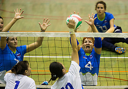 Mira Jakin of Slovenia during friendly Sitting Volleyball match between National teams of Slovenia and China, on October 22, 2017 in Sempeter pri Zalcu, Slovenia. (Photo by Vid Ponikvar / Sportida)