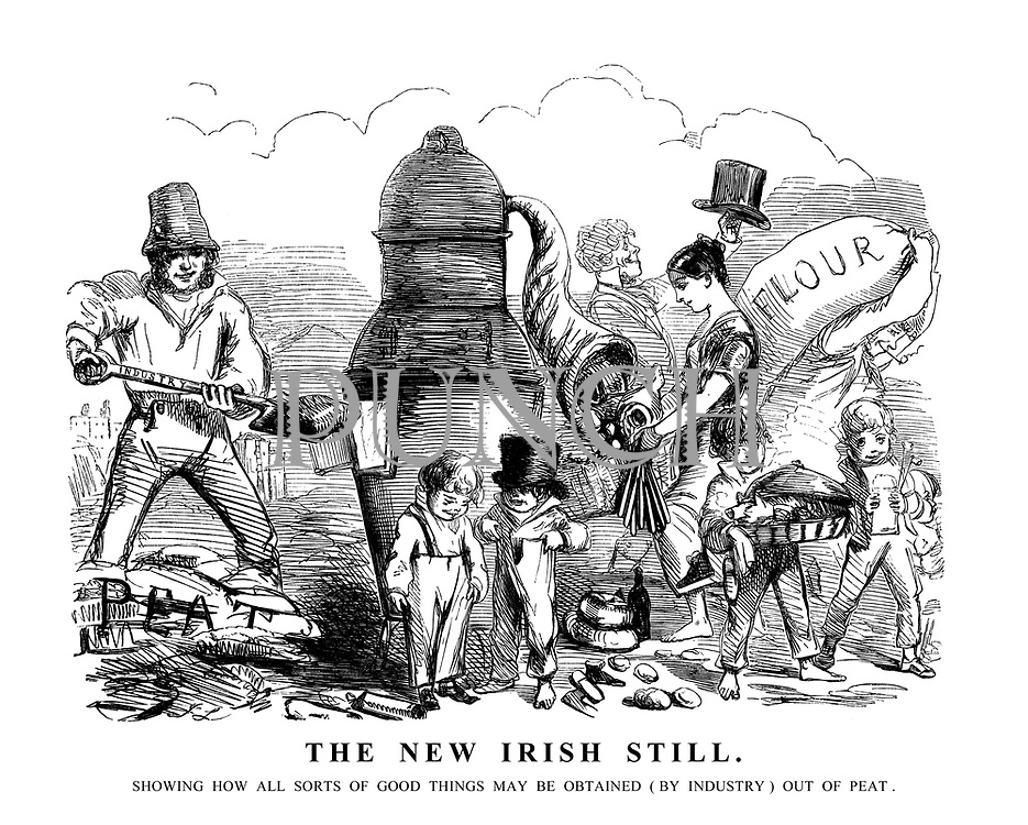 The New Irish Still. Showing how all sorts of good things may be obtained (by industry) out of peat.