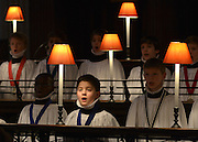 © Licensed to London News Pictures. 10/12/2012. City of London, UK Boy rehearse carols. A photo call for St Paul's Choristers preparing for their busiest weeks of the year. The choristers will rehearse Christmas favourites, under the direction of Andrew Carwood, Director of Music. St Paul's Cathedral. today 10 December 2012. Photo credit : Stephen Simpson/LNP