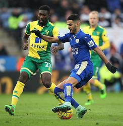 Riyad Mahrez of Leicester City in action - Mandatory byline: Jack Phillips/JMP - 27/02/2016 - FOOTBALL - King Power Stadium - Leicester, England - Leicester City v Norwich - Barclays Premier League