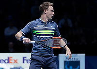 Tennis - 2017 Nitto ATP Finals at The O2 - Day One<br /> <br /> Mens Doubles: Group Eltingh/Haarhus: Henri Kontinen (Finland) & John Peers (Australia) Vs Ryan Harrison (United States) & Michael Venus (Australia)<br /> <br /> Henri Kontinen (Finland) <br /> <br /> COLORSPORT/DANIEL BEARHAM