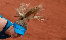 May 30, 2018 - Paris, Ile-de-France, France - Elina Svitolina of Ukraine serves against Viktoria Kozmova of Slovakia during the second round at Roland Garros Grand Slam Tournament - Day 4 on May 30, 2018 in Paris, France. (Credit Image: © Robert Szaniszlo/NurPhoto via ZUMA Press)